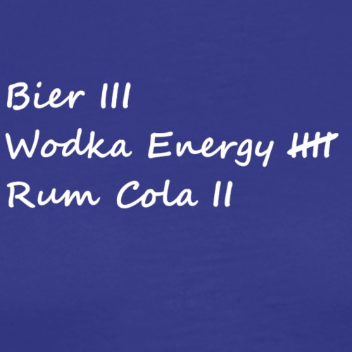 Bier Rum Wodka - Männer Premium T-Shirt