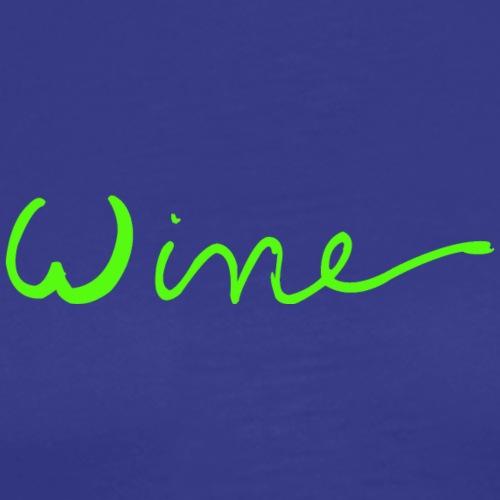 WINE art logo GROEN - Mannen Premium T-shirt