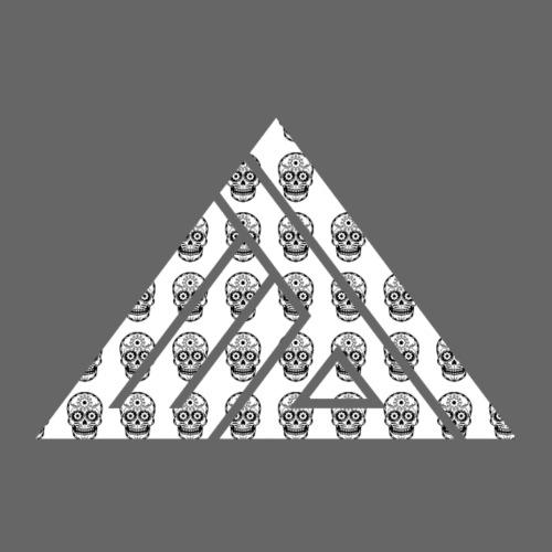 Edi Triangel Logo, Skulls op wit - Mannen Premium T-shirt