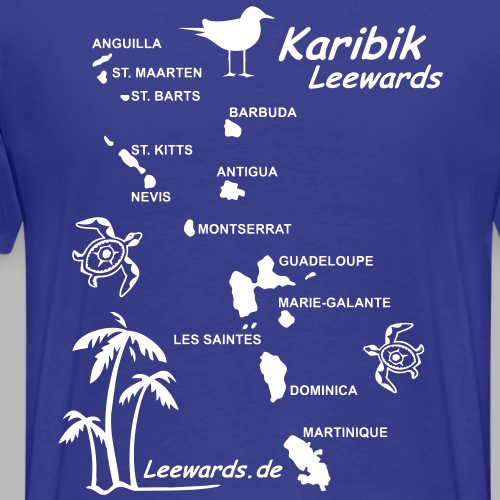 Karibik Leewards Segeln Leward Islands - Männer Premium T-Shirt