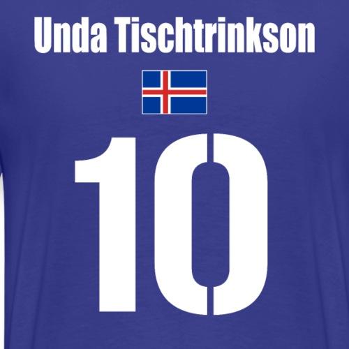 Island Trikot lustig Isländischer Name Fußball - Männer Premium T-Shirt