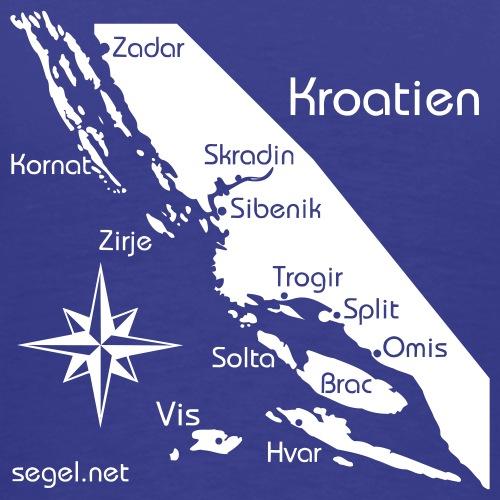 Crewshirt Urlaub Motiv Kroatien - Männer Premium T-Shirt