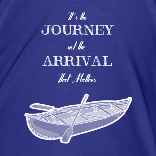 its the journey not the arrival boat - Herre premium T-shirt