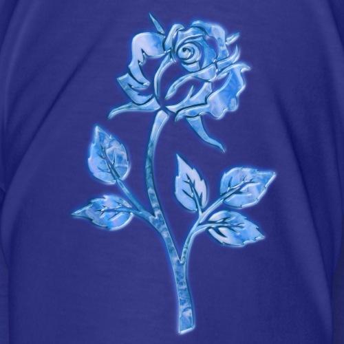 Rose 3d blau