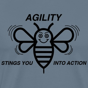AGILITY STINGS YOU INTO ACTION - Men's Premium T-Shirt