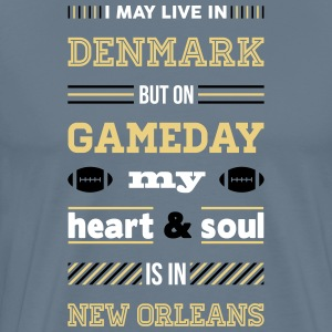 I may live in Denmark... (New Orleans edition) - Herre premium T-shirt