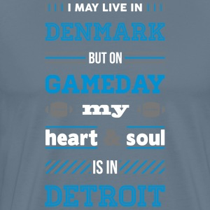 I may live in Denmark... (Detroit edition) - Herre premium T-shirt