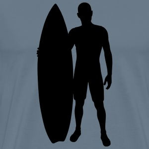 Surfer with surfboard - Men's Premium T-Shirt