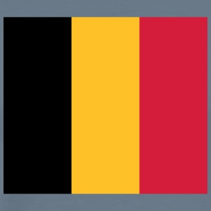 National Flag of Belgium - Premium-T-shirt herr