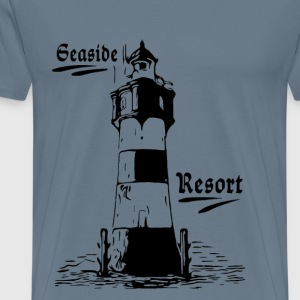 Seaside Resort Lighthouse - Herre premium T-shirt