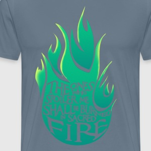 Heiliges Feuer - Green Version - Männer Premium T-Shirt