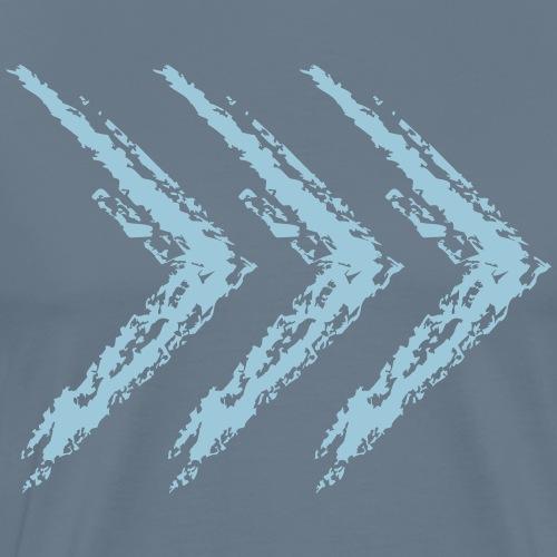 Wegzeichen Freund - Kreide - Farbe wählbar - Männer Premium T-Shirt