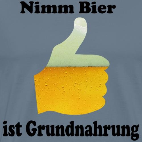 Nimm Bier - ist Grundnahrung - Männer Premium T-Shirt
