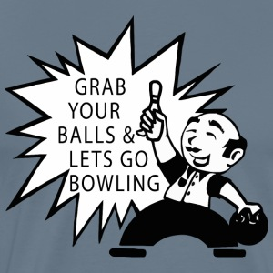 Bowling Grab Your Balls & Let's Go Bowling Retro - Men's Premium T-Shirt
