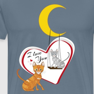 Cats on swing - Men's Premium T-Shirt