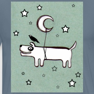 Dog, Bird & Moon - Premium-T-shirt herr