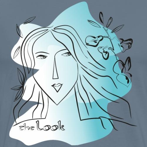 Cara 3 color azul (serie The Look) - Camiseta premium hombre