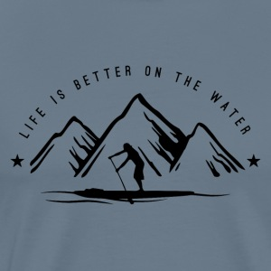 Stand Up Paddle Mountain Man - Men's Premium T-Shirt