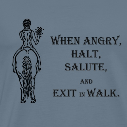 Halt salute and exit inn walk - Men's Premium T-Shirt