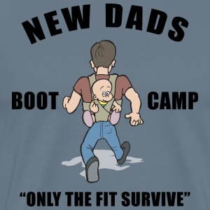 Nieuwe Papa Boot Camp Only The Fit Survive - Mannen Premium T-shirt