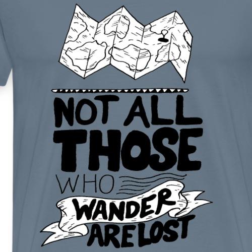 TRAVELER GADGET Wanderer (black) - Maglietta Premium da uomo