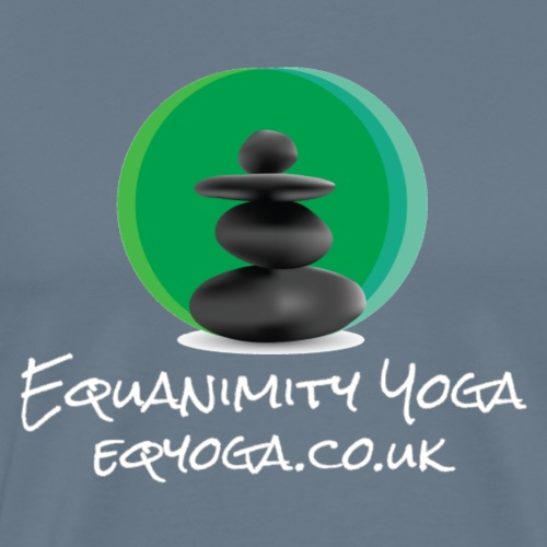 Equanimity Yoga Logo White text - Men's Premium T-Shirt