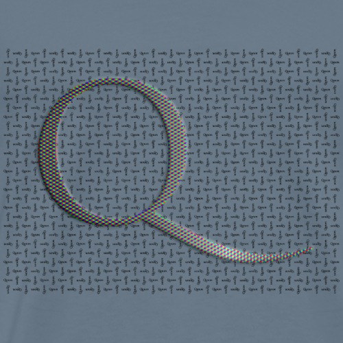Q and Qanon - Men's Premium T-Shirt