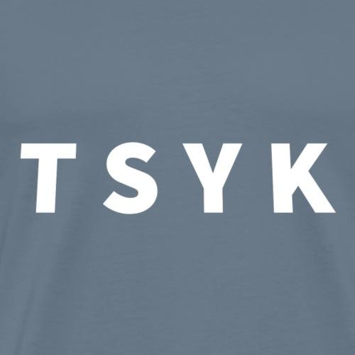 TSYK Valkoinen - Miesten premium t-paita