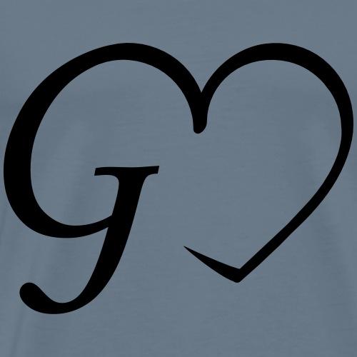 Herz Buchstabe G - Männer Premium T-Shirt