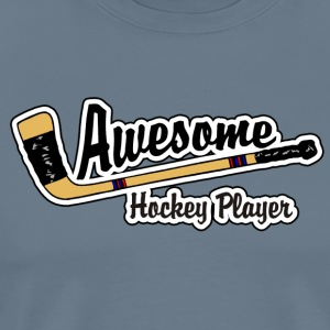Awesome Hockey Player - Herre premium T-shirt