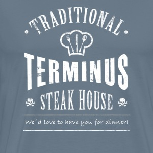 Terminus steakhouse - Premium T-skjorte for menn