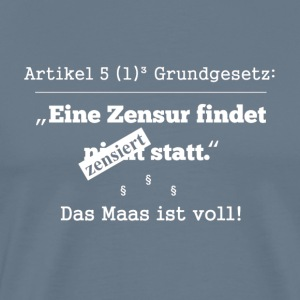 De Maas is vol (wit) - Mannen Premium T-shirt