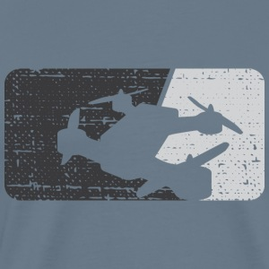 Drone Racing Distressed Monochromatic Dark - Men's Premium T-Shirt