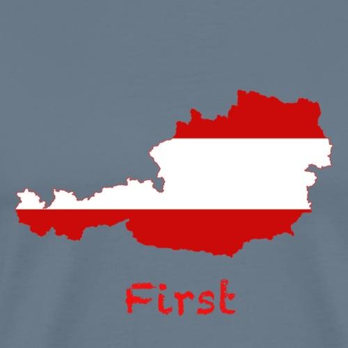 Austria First - Männer Premium T-Shirt