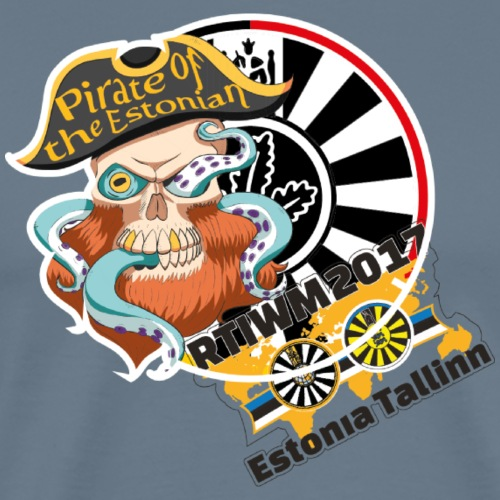 pirate of the estonian back - Männer Premium T-Shirt