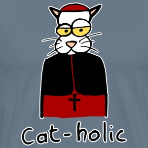 cat-holic hand drawn - Men's Premium T-Shirt