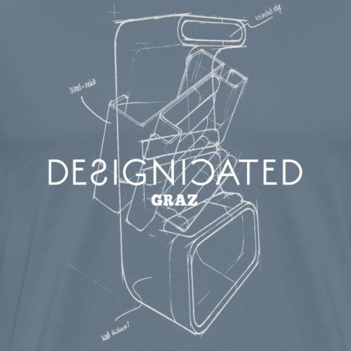 Designicated Graz weiß - Männer Premium T-Shirt