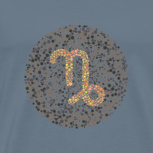Capricorn Eye Test Zodiac Symbol - Men's Premium T-Shirt