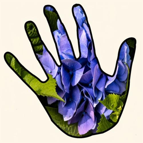 mano ecologica con ortensia - Maglietta Premium da uomo