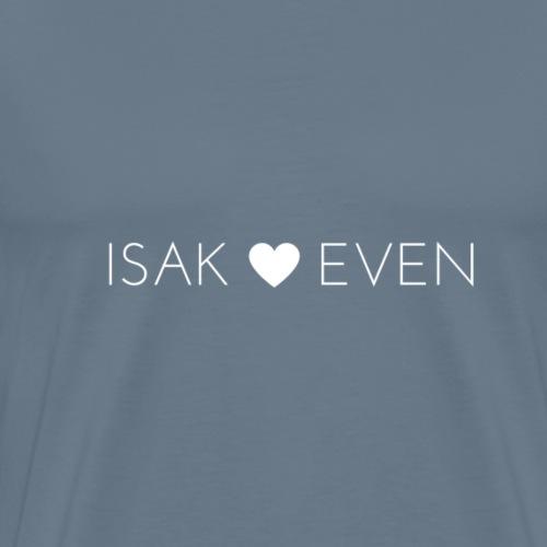 ISAK + EVEN HVIT - Premium T-skjorte for menn