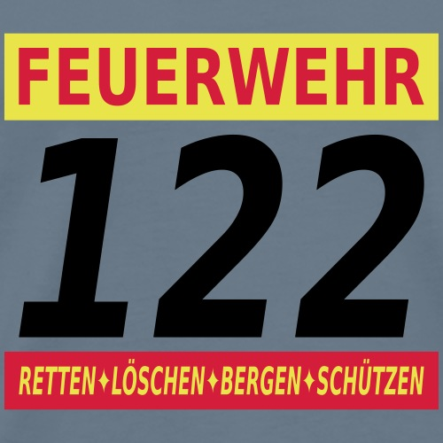 Feuerwehr 122 Österreich - Männer Premium T-Shirt