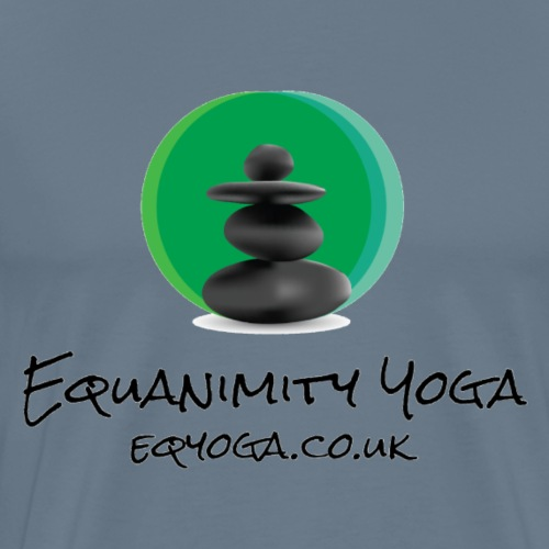 Equanimity Yoga Logo Black text - Men's Premium T-Shirt