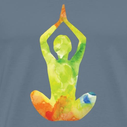 YOGA Frau - Männer Premium T-Shirt
