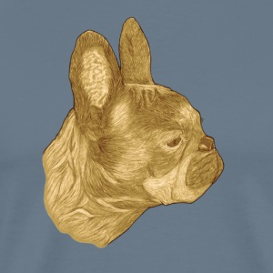 Vintage French Bulldog Dog - Men's Premium T-Shirt