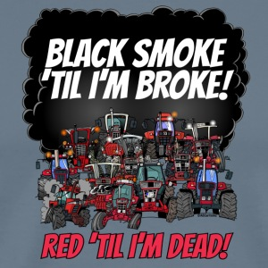 2016_black_smoke_red_IH_tshirt - Premium T-skjorte for menn