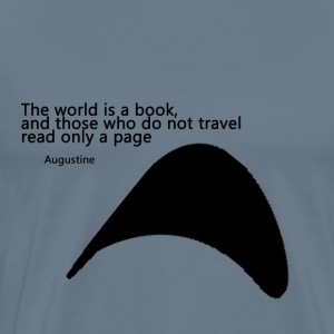 Travel_Quote_copy - Premium T-skjorte for menn