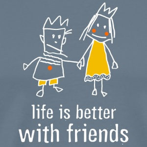 life is better with friends king princess crown - Men's Premium T-Shirt