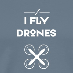 drone fly Quadrocopter pilot air flight propeller - Men's Premium T-Shirt