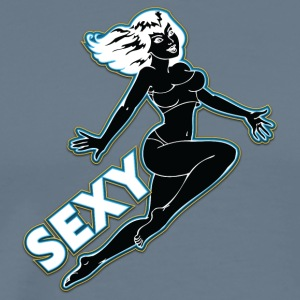 sexig hoppning pin up girl black - Premium-T-shirt herr