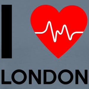 I Love London - jeg elsker London - Premium T-skjorte for menn